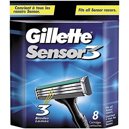 Price comparison product image Gillette Sensor3 Men's Razor Blade Refills, 8 Count, Mens Razors / Blades