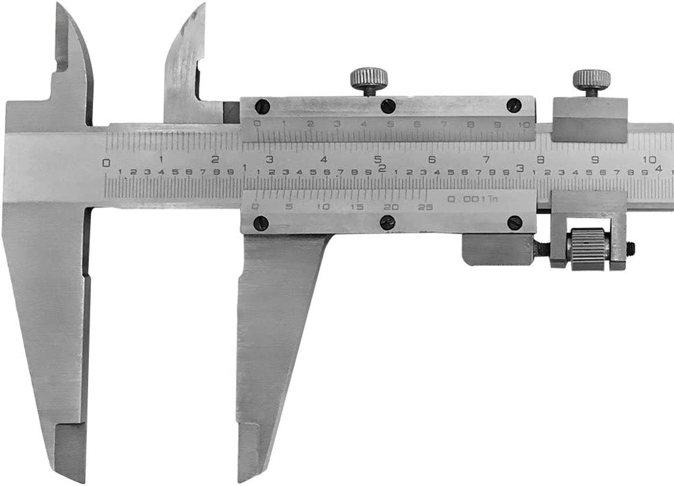 8/'/'//200mm Stainless Steel Vernier Caliper .001/'/' Graduation Long Jaws Vernier