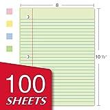 Kaisa Filler Paper Colored loose Leaf Paper, Wide