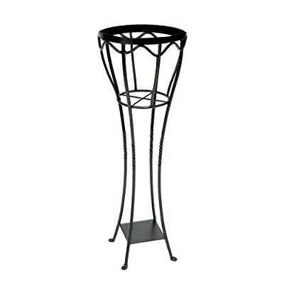 Achla Designs VPS-04 Verandah Wrought Iron Displaying Pots, Metal Plant Stand, Graphite : Garden & Outdoor
