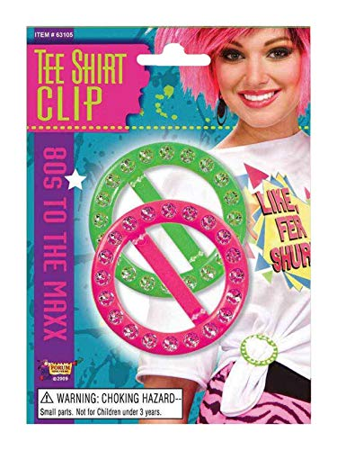 80's Pink and Green Tee Shirt Clips -