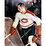 b99070bd2 Autographed Jacques Laperriere 8x10 Net Photo - Montreal Canadiens