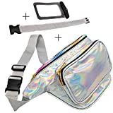 Best Fanny Pack Water Proofs - Holographic Fanny Pack with Belt Extender - Plus Review