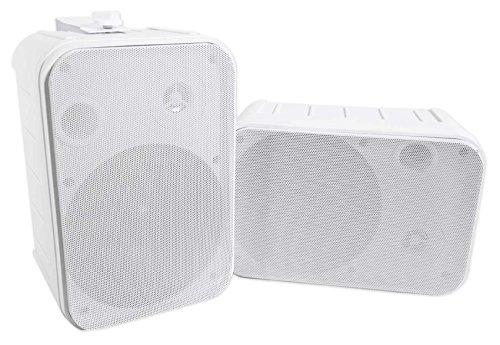 Pair Rockville HP65S 6.5″ Outdoor/Indoor Home Theater Speakers w/Swivel Bracket