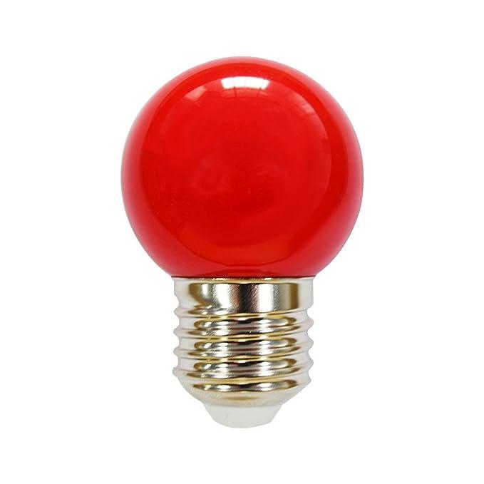 Boule Ampoule LED Goutte 2W E27360° Rouge