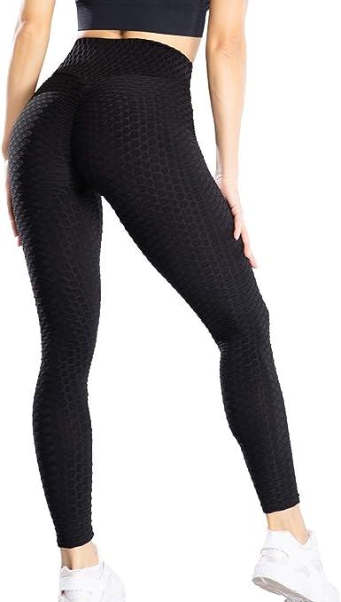 Women Ruched Yoga Pants Anti Cellulite Gym Leggings Butt Lift Booty Run Trousers