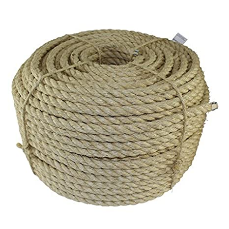 All Natural Fibers Tie-Downs Moisture//Weather Resistant 600 feet Marine - SGT KNOTS Cat Scratching Post Indoor//Outdoor Projects 1//2 inch Twisted Sisal Rope Wicker Chair Decor