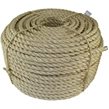 Twisted Sisal Rope (1/4 inch) - SGT KNOTS - All Natural Fibers - Moisture / Weather Resistant - Marine, Decor, Projects, Cat Scratching Post, Tie (Downs, Wicker Chair, Indoor/Outdoor (10 feet)