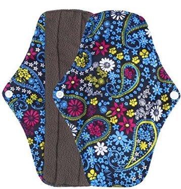 A Sunei.f Reusable Charcoal Bamboo Mama Pads//Mestruale Pads Cloth//assorbenti assorbenti Size L