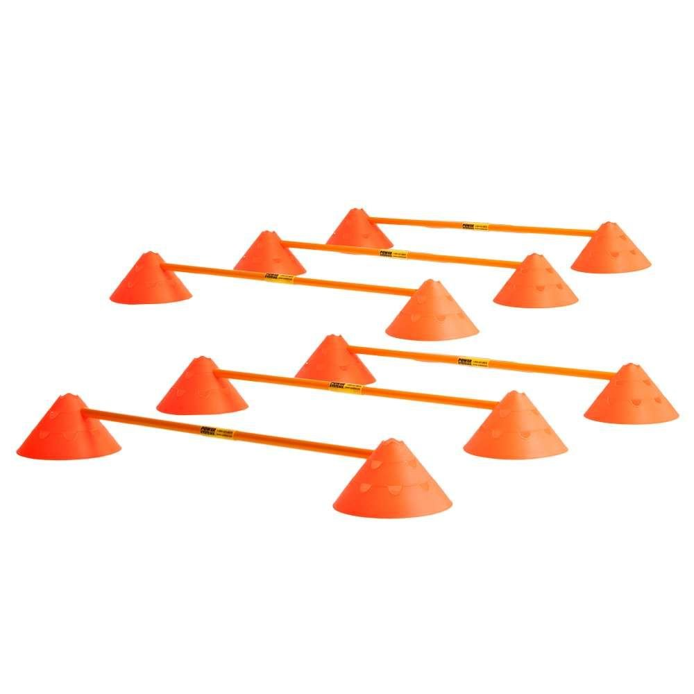 Power Systems Cone and Hurdle Set with Carry Bag, Adjustable Height from 3-7 Inches, 6-Pack of Hurdles, Orange (30280)