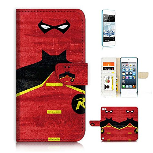 ( For ipod 5, itouch 5, touch 5 ) Flip Wallet Case Cover & Screen Protector Bundle! A20025 Robin Super Hero