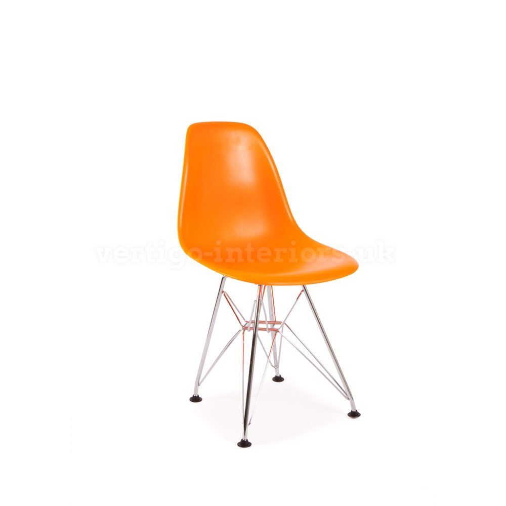 *Set of 4* High Quality Eames Style Kids DSR Dining Playroom Bedroom Side Chair - Orange