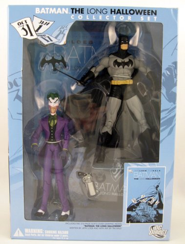 DC Direct Batman: The Long Halloween Collector Set Includes Batman and The Joker and Graphic Novel: BATMAN: THE LONG HALLOWEEN