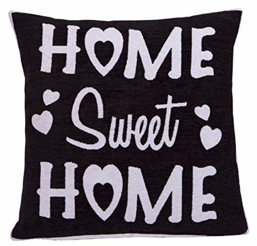 EHC 45 x 45 cm Home Sweet Home Forma de corazón de Chenilla ...