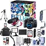 Canon T6i Video Creator Kit EF-S 18-55mm f/3.5-5.6 is STM Lens, Rode VIDEOMIC Go Microphone, 32GB SDHC Card - Bundle 32GB SDHC Card, Remote Trigger, Camera Case. Tripod, Video Light More