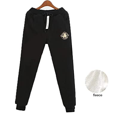 Yehopere Women Winter Pants Loose Jogger Sweatpants Fleece Lined