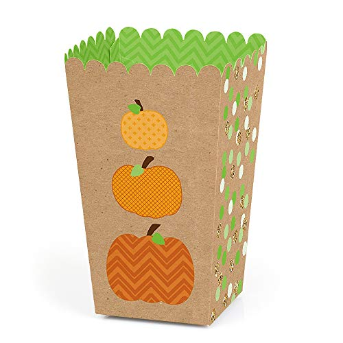 Baby's 1st Halloween Pumpkin Carving (Big Dot of Happiness Pumpkin Patch - Fall or Halloween Party Favor Popcorn Treat Boxes - Set of)