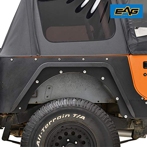 EAG Front Fender with Flare and LED Eagle Light for 1987-1996 Jeep Wrangler YJ