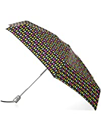 SunGuard Auto Open Close Mini Umbrella with NeverWet, Black Rain