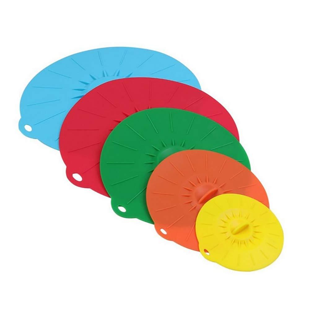 HNYG - Juego de 5 tapas de silicona con ventosa para cuencos ...