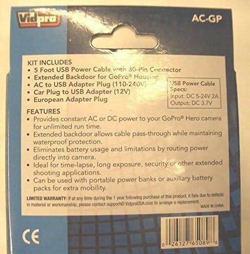 GoPro CHDBX-401 GoPro CHDHY-401 AC-GP AC Adapter Power Kit for GoPro HERO3+ GoPro CHDHX-401 GoPro HERO4