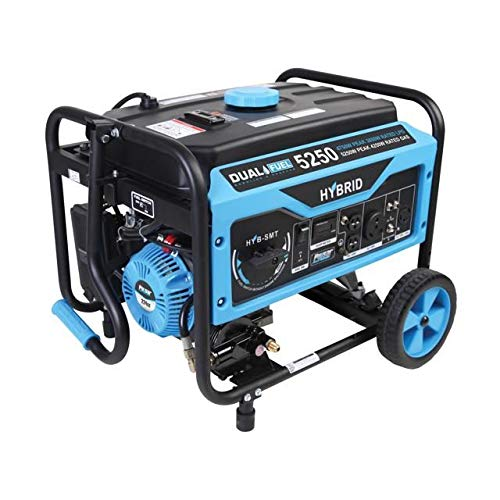 Pulsar Non-CARB 10,000W Dual Fuel Switch & Go Technology & Electric Start portable generator, Black