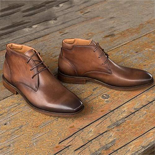Brown Inverno Safety Uomo Boots in di Stivali Chelsea Vacchetta Autunno Oxblood Nero E Primo 39 Pelle Pelle Brogue Piano Classic fUR4wv4qW
