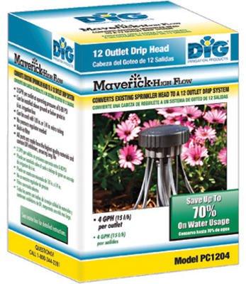 DIG PC1204 Maverick 12-Outlet Retrofit Drip Kit with 1/2