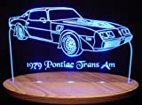 1979 Trans Am Acrylic Lighted Edge Lit 13'' LED Sign / Light Up Plaque 79 VVD9 Original Made in USA