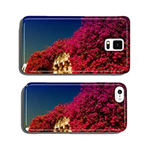 Bougainvillea flowers surrounding ancient arch cell phone cover case iPhone5