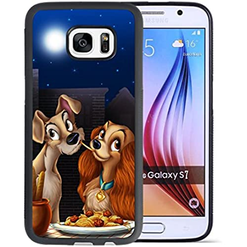 Lady and the Tramp Samsung Galaxy S7 Case, Onelee [Never fade] Lady and the Tramp Samsung Galaxy S7 Black TPU Sales
