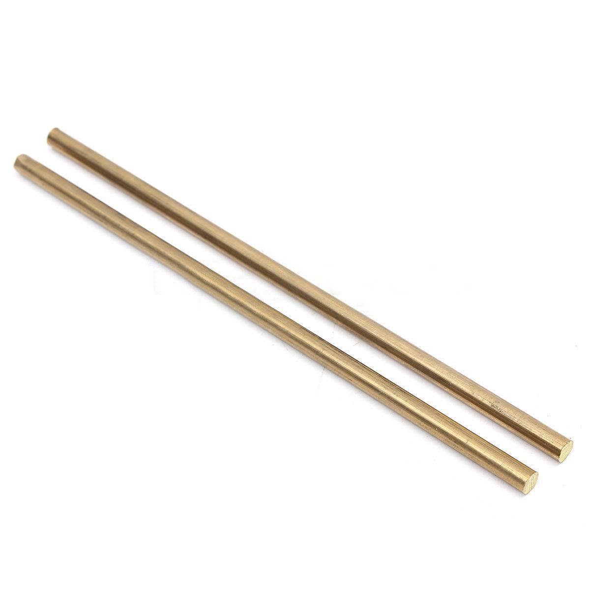 2pcs Brass Rods Stab Bar Unpolished Round Rod Hardware 5mm x 150mm 1/4' NaroFace