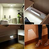 AMIR 6 LED Motion Sensing Closet Lights, Convenient Auto on Mini Night Light, 3 Pack, Stick-on Anywhere with Magnetic Strip for Cabinet, Closet, Wardrobe, Stairs.