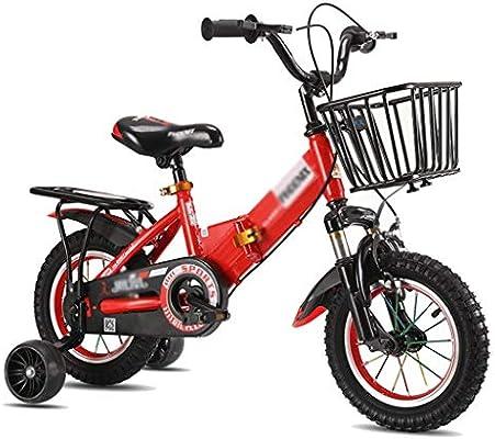 Bicicletas infantiles Bicicleta Triciclo for niños Bicicleta for Estudiantes Marco de Acero de Alto Carbono con Canasta Bicicleta Bonita Regalo for Estudiantes (Color : Red, Size : 18 Inches): Amazon.es: Deportes y