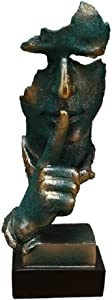 Creative Abstract The Thinker Statue, Hand & Face Statues and Sculptures for Home & Office Desk Decor 12