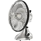 Vornado Silver Swan S Small Room Oscillating Fan, Brushed Nickel