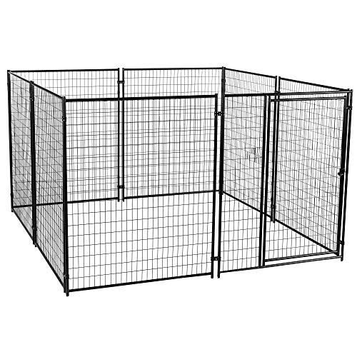 (Lucky Dog Large Modular Welded Wire Box Indoor Outdoor Dog Kennel, 10x10x6 feet)