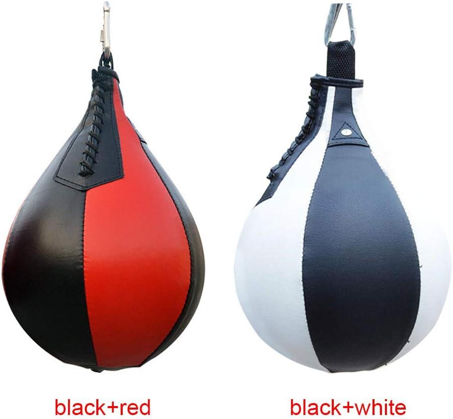 elastico per allenamento in poliuretano antiusura da appendere resistente Palla da boxe anti-esplosione Taglia libera Black+red reazione professionale