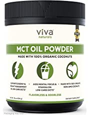 Viva Naturals MCT Oil Powder (16 oz) – Made from 100% Organic Coconuts, Perfect in Coffee, and Smoothies for Sustained Energy Support