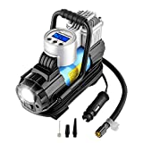 AUTOWN Portable Air Compressor Pump 150 PSI, 12V Digital Car Tire Inflator Gauge with 4 Display Units, Auto Shut-Off for Overheat Protection (Type-1)