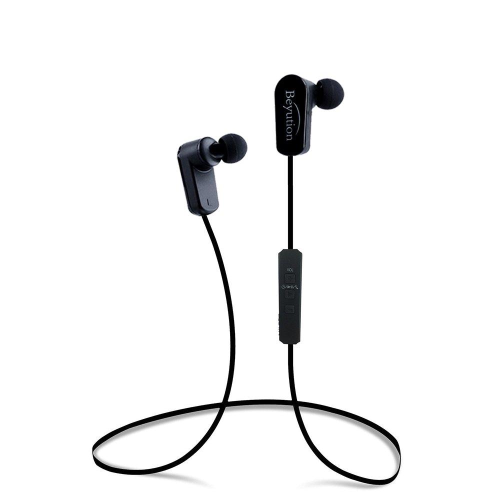 Beyution New Sports Hi-fi Bluetooth 4.1 Headphones - Mini Lightweight Wireless Stereo Sports/Running Bluetooth Earbuds Headphones Headsets Built in Mic-Phone (508s-v4.1-Black)