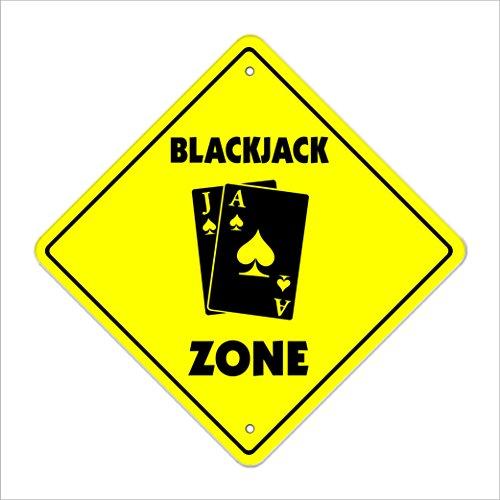 Blackjack Crossing Sign Zone Xing | Indoor/Outdoor | 12
