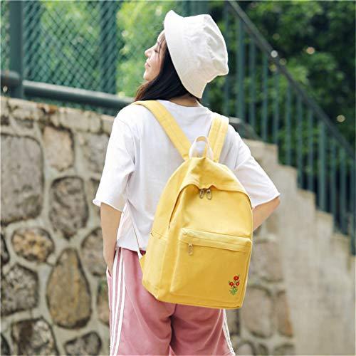 Vhvcx School Bello Fashion For Ricamo Canvas Fiore Femminile Spalla Zaino Zaini Girls Donna Sacchetto Mochilas Bag Signora rZIqxXrHw