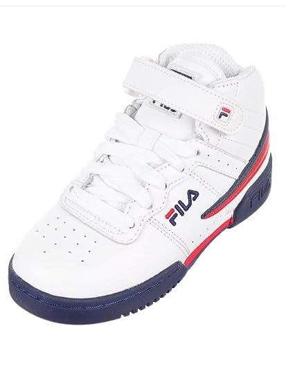 elegant shoes release date best price Fila F-13 pour garçon Rouge/bleu marine/blanc Mid-top basket ...