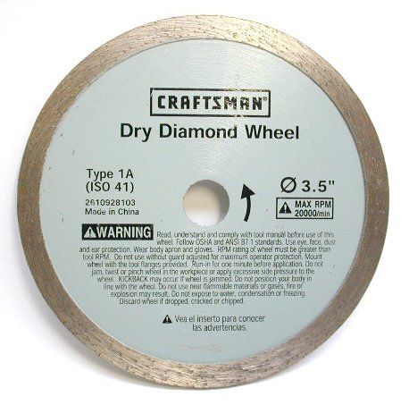 Dry Cut Diamond Wheel - Craftsman CM-DIA1 3 -1/2 in. Dry Diamond Wheel Blade
