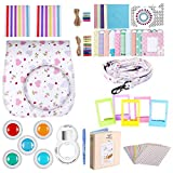 Neewer White 34-in-1 Accessories Kit for Fujifilm Instax Mini 9 8+ 8 8s: Case Album Selfie Lens Colored Filter Table Frame Wall Hanging Frame Border Sticker Corner Sticker Decorative Sticker Pen