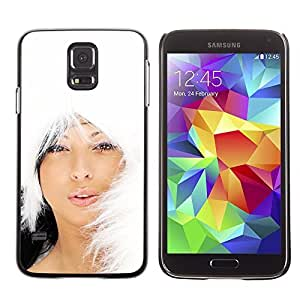 YOYO Slim PC / Aluminium Case Cover Armor Shell Portection //Christmas Holiday Hot Asian Girl Woman 1007 //Samsung Galaxy S5