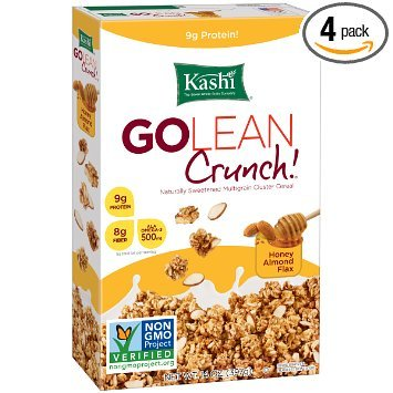 Kashi GOLEAN Crunch! Cereal, Honey Almond Flax, 14 Ounce ( Case of 12 )