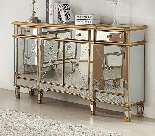 Amazon De Derrys Imperial Gold Venezianische Sideboard 3 Schubladen Verspiegelt 4 Tur Moderne