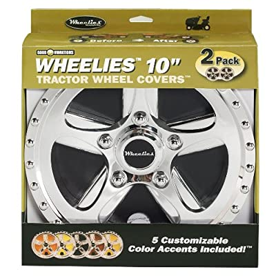 Good Vibrations 180 2 Count Tractor Wheel Covers, 10-Inch: Garden & Outdoor